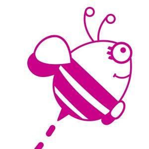 Vinilo Nombre y abeja