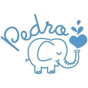 Vinilo Elefante y Nombre