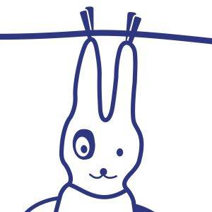 Vinilo Colgador Conejo