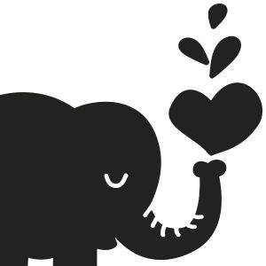 Vinilo Pizarra Elefante