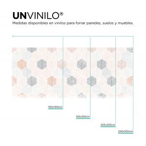 Vinilo Hoja Hexagonal Pastel