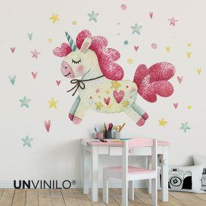 Vinilo Unicornio Acuarela